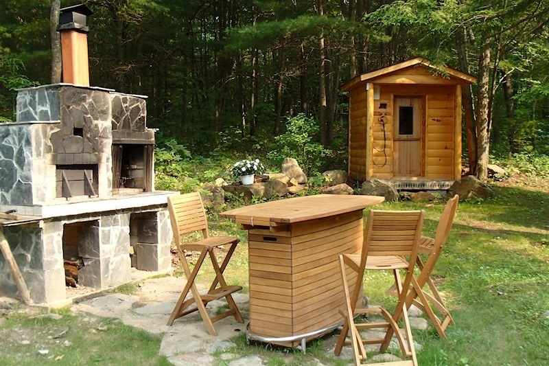 cottage rental with outdoor pizza oven nr bala cottages for rent southern ontario canada cottage rentals southern ontario pet friendly